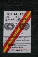ETIQUETTE  - STELLA ANIS , Anisette Superfine, I.BOUIX ,Distillateur à PERPIGNAN - Other
