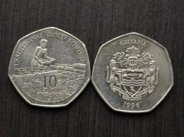 Guyana 10 Dollars 1996  Km52 VF COIN -->Panning - Guyana