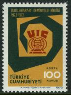 TURKEY 1972 (**) - Mi. 2278, 50th Ann.of The Int. Unioun Of Railways (UIC) - Unused Stamps