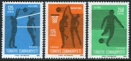 TURKEY 1974 (**) - Mi. 2344-46, Regular Issue With The Subject Of Sport - 1921-... République