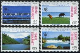 TURKEY 1976 (**) - Mi. 2391-94, The European Wetland Conservation Year - Unused Stamps