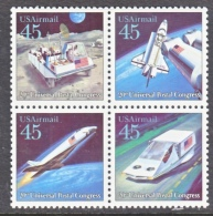 US  C 125a    **      SPACE  FUTURISTIC  MAIL  DELIVERY - Air Mail