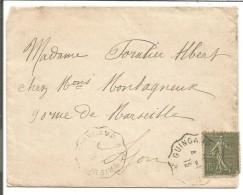 AMBULANT DE GUINGAMP A SAINT BRIEUC SUR LETTRE DU 4/1/1918 - Marcophilie (Lettres)