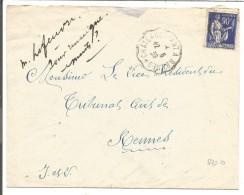 AMBULANT DE CHATEAUBRIANT A RENNES SUR LETTRE DU 12/6/1939 - Marcophilie (Lettres)