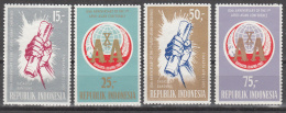 Indonesia    Scott No.  655-58    Mnh   Year  1965 - Indonesia