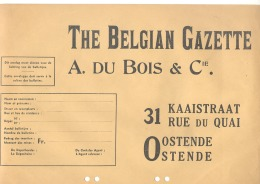 """Enveloppe De """" The Belgian Gazette """"  OOSTENDE - OSTENDE ( AF) - Imprimerie & Papeterie"""