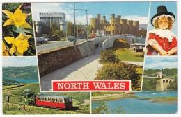 North Wales: Llyn Padarn, Sychnant Pass, Menal Bridge, Conway Castle, Llyn Gwynant - TRAIN - Wales - Eisenbahnen