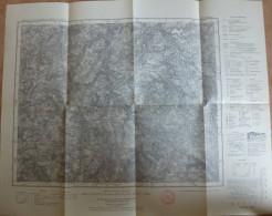 Annaberg 469 - Karte Des Deutschen Reiches 1:100'000 - Herausgegeben Vom Reichsamt Für Landesaufnahme Sachsen 1937 38cm - Topographische Karten