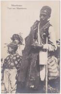 Macedonia - Man And Kids (ethnography) - Deutsche Feldpost 1918 - Mazedonien