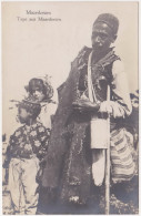Macedonia - Man And Kids (ethnography) - Deutsche Feldpost 1918 - Macédoine