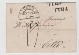 THT099 /THURN + TAXIS -   Lübeck 1842 Nach Frankreich - Duitsland