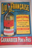 15 - AURILLAC - AFFICHE LIQUEUR FRANCAISE- CHANABIER PERE & FILS- INVENTEURS- ALCOOL - Affiches