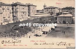 SPEZIA-PIAZZA DEL MERCATO-VIAGGIATA 1900-OTTIMA CONSERVAZIONE-2 SCAN- - La Spezia