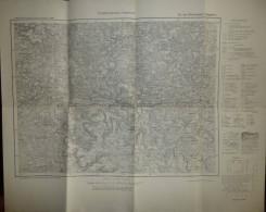 Umgebungskarte Hersbruck - Für Die Öffentlichkeit Freigegeben - Ausschnitt Aus Der Karte D. Deutschen Reiches 1:100'000 - Topographische Karten