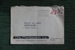 Enveloppe Timbrée Publicitaire, LE CHAUX DE FONDS, CHS.MONTANDON,Founitures D'horlogeries Industrielles - Lettres & Documents