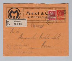 """Schweiz Privat-Ganzsache 1917-09-24 Klingnau Mit Perfin Marke """"M&C"""" #M026 Selten - Entiers Postaux"""