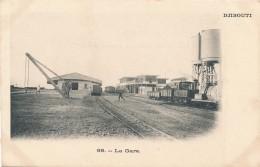 CPA DJIBOUTI La Gare Train En Gare - Gibuti