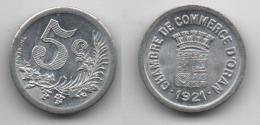 + ALGERIE + ORAN + MONNAIE CHAMBRE DE COMMERCE D'ORAN +5 CENTIMES 1921 + - Colonie