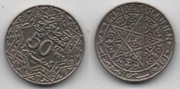 + MAROC + EMPIRE CHERIFIEN + 50 CENTIMES 1924 + POISSY + - Morocco