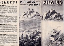 PILATUS   SWITERLAND    SUISSE - Reiseprospekte