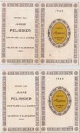 Lot De 2 Calendrier 1965 : Parfum ´Espace´ De CHERAMY - Petit Format : 1961-70