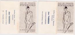 """Lot De 2 Calendrier 1969 Et 1971 : Eau De Toilette """"PIVERLORD"""" - Tamaño Pequeño : 1961-70"""