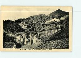 LA MURE - Ligne De Chemin De Fer - Le Train Sue Le Viaduc -  2 Scans - La Mure