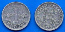 Finlande 1 Penni 1972 Finland Pennia Non Euro Paypal Skrill Bitcoin OK - Finlande