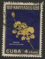 Cuba - 1958 Christmas Orchids 4c Used   Sc 612 - Cuba