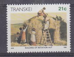 Transkei 1990 Definitive / Building Of Initiation Hut 1v ** Mnh (30221) - Transkei