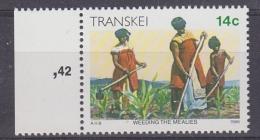 Transkei 1986 Definitive / Weeding Of The Mealies 1v ** Mnh (30221A) - Transkei