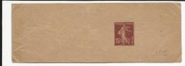 1926 - BANDE JOURNAL ENTIER POSTAL TYPE SEMEUSE Avec DATE