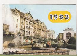 Romanian Small Calendar - 1983 - Timisoara - Small : 1981-90