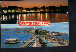 Q1599 CARTOLINA Di Saluti Da Anzio (Roma) - MULTIPLA CON TRAMONTO SUNSET COUCHER - VIAGGIATA - Italia