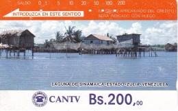TARJETA DE VENEZUELA DE Bs.200 DE LA LAGUNA DE SINAMAICA  (DETRAS COLOR MARRON CON 5 RAYAS) - Venezuela