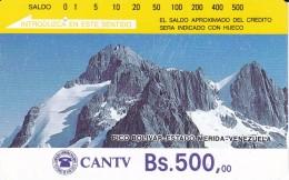 TARJETA DE VENEZUELA DE Bs.500 DEL PICO BOLIVAR  (DETRAS COLOR MARRON CON 7 RAYAS) - Venezuela