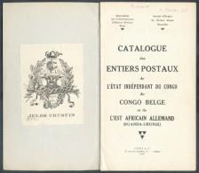 A.B.E.P. Et S.E.E.P., Catalogue Des ENTIERS POSTAUX De L´ETAT INDEPENDANT DU CONGO Du CONGO BELGE Tet De L´EST AFRICAIN - Entiers Postaux