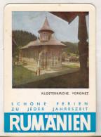 Romanian Small Calendar - ONT 1966 - Voronet Church - Calendriers