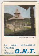 Romanian Small Calendar - ONT 1966 - Voronet Church (2) - Calendriers