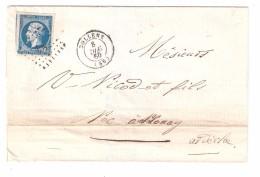 Lettre De BOLLENE , Vaucluse , Pc 428 Sur Empire N° 14 , 8 Décembre 1860 > Annonay , Ardèche, TB - Marcophilie (Lettres)