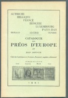 LEPINGLE Jean, CATALOGUE DES PREOS D´EUROPE, Bruxelles, 1951, 120 + 22 Pages. L  - Etat NEUF - MO70 - Eisenbahnen