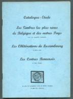 BERLINGIN René , CATALOGUE-ETUDE LES TIMBRES LES PLUS RARES DE BELGIQUE Et Des Autres Pays, Les OBLITERATIONS De LUXEMBO - Guides & Manuels