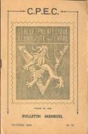 C.P.E.C.  , Bulletin Mensuel N°10, Octobre 1945, 12 Pages.  Etat Neuf - MO72 - Tijdschriften