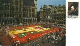 BELGIO  BRUXELLES  Grand Place  Tapis De Fleurs  Nice Stamp - Piazze