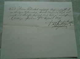 D137988.6 Old Document  Hungary  -Anna Podubak - 1871  Pest - Fiançailles
