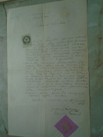 D137988.7 Old Document  Hungary  -Ciba - Hornyák  - Uriloures ? Premysl POland Galizien 1869 - Engagement