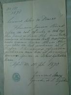 D137988.9  Old Document  Hungary  Joannes BOREK - Anna HOLY - Albina KNIR - Pest 1870 - Verloving