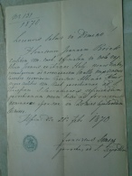 D137988.9  Old Document  Hungary  Joannes BOREK - Anna HOLY - Albina KNIR - Pest 1870 - Engagement