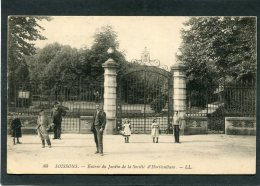 CPA - SOISSONS - Entrée Du Jardin De La Société D'Horticulture, Animé - Soissons
