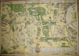 Krefeld-Uerdingen Am Rhein - Lageplan Signiert Hugo Peters 1957 - 41cm X 59cm - Cartes